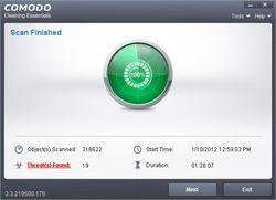 Comodo Cleaning Essentials screen1