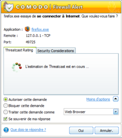 Comodo Firewall screen1