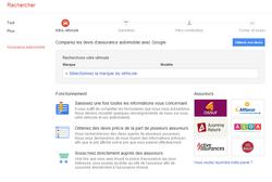 Comparateur assurances auto Google 1