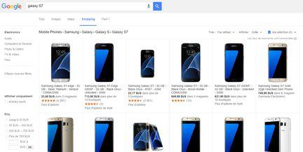 Comparateur prix Google