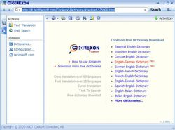 Coolexon Dictionary screen1