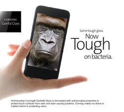 Corning Gorilla antimicrobien