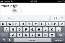 correction iOS