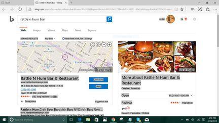 Cortana Bing Edge
