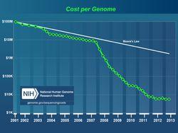 cout du génome