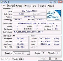 CPU onglet processeur