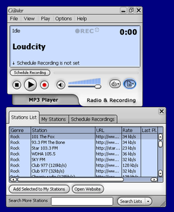 Crawler Radio & MP3 Player screen1
