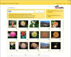 Creative Commons Image Finder screen1
