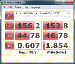 CrystalDiskMark screen 1