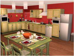 Cuisine et Salle de bains 3D screen 1
