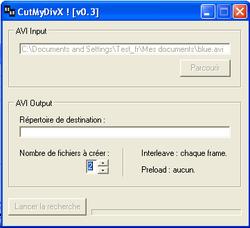 CutMyDivX screen1