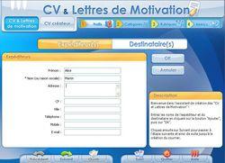 CV et lettres de motivation screen 1
