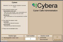 Cybera Client screen1