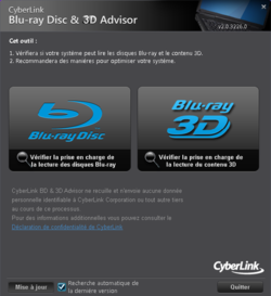 CyberLink BD & 3D Advisor screen1