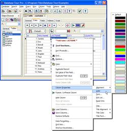 Database Tour screen 2