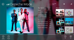 Deezer pour Windows 8 screen