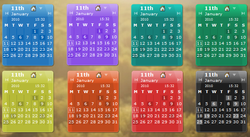 Desktop Calendar screen 2