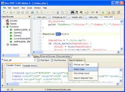 Dev-PHP IDE screen2