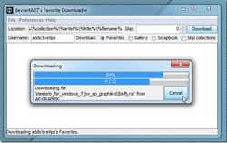 deviantART Favorites Downloader screen1