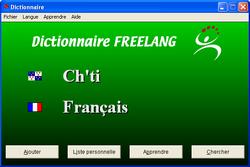 Dictionnaire français-chti screen1