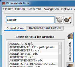 Dictionnaire Le Littré 2009 screen2