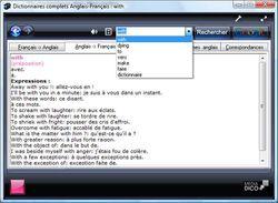 Dictionnaires complets Anglais - Français screen 1