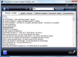 Dictionnaires complets Anglais - Français screen 2
