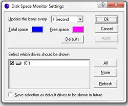Disk Space Monitor screen1