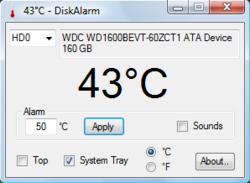 DiskAlarm screen1