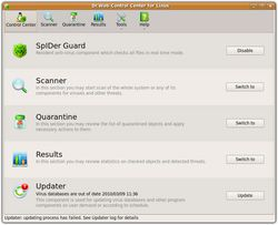 Dr.Web pour Linux screen 1