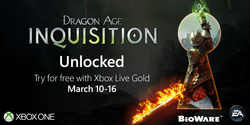 Dragon Age Inquisition gratuit Xbox One
