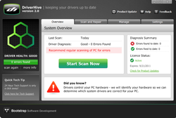 DriverHive screen