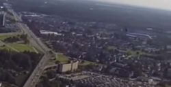 Drone volant aéroport vancouver