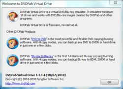 DVDFab Virtual Drive screen2