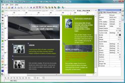Dynamic HTML Editor screen