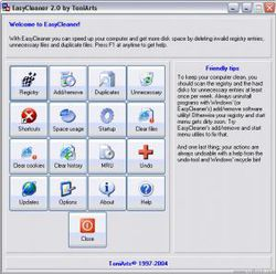 EasyCleaner screen 1