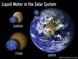 eau système solaire