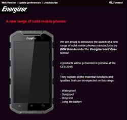 Energizer smartphones