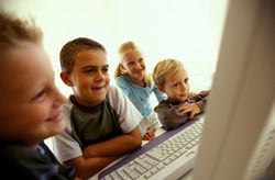 Enfants ordinateur