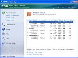ESET Smart Security parefeu