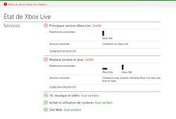Etat Xbox Live - pannes