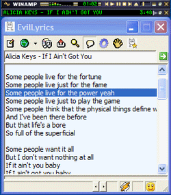 Evil Lyrics screen1