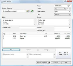 Express Invoice Free Edition screen2