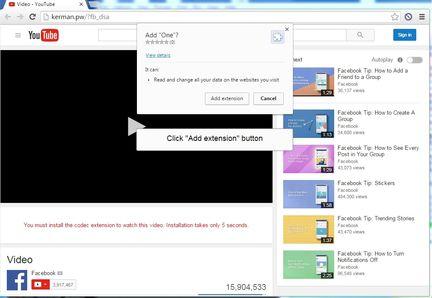 Facebook arnaque vidéo Messenger