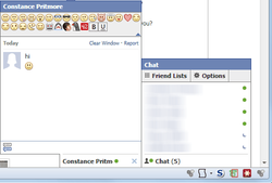Facebook Chat Emoticons Bar screen2