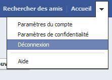 Facebook-deconnexion