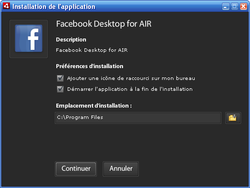 Facebook Desktop for AIR