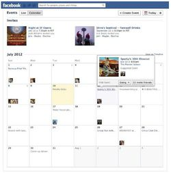 Facebook-events-calendar