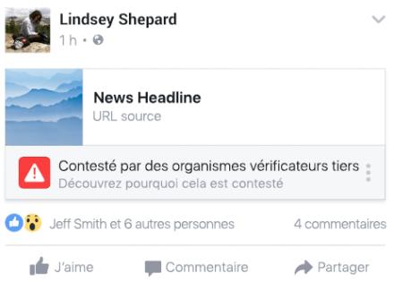 Facebook propose à ses utilisateurs de dénoncer les fausses informations