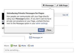 Facebook-Page-message-privé
